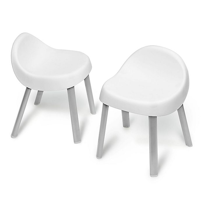 Alternate image 1 for SKIP*HOP® Explore & More Kid Chairs in White (Set of 2)