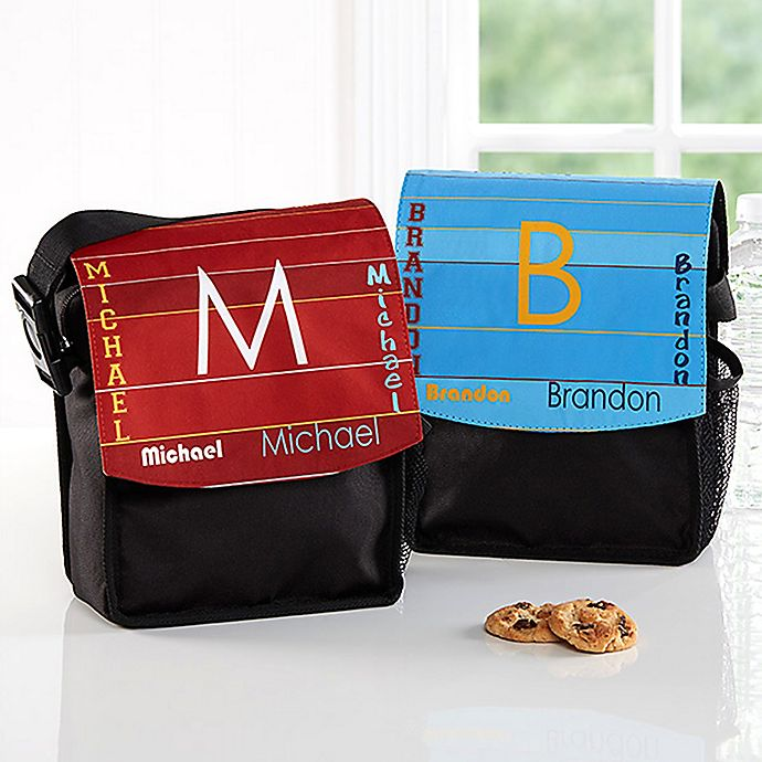 Alternate image 1 for That's My Name Boy's Lunch Bag in Black