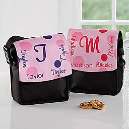 That's My Name Girls Lunch Bag in Black