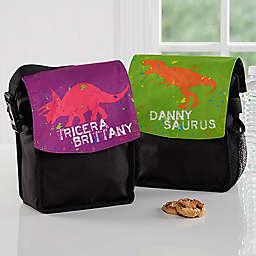 Dinosaur Lunch Bag in Black