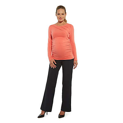 Stowaway Collection Sunburst Maternity Top in Coral