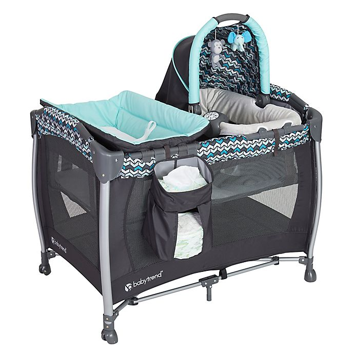 Baby Trend Laguna Resort Elite Nursery Center Playard In Bluegrey