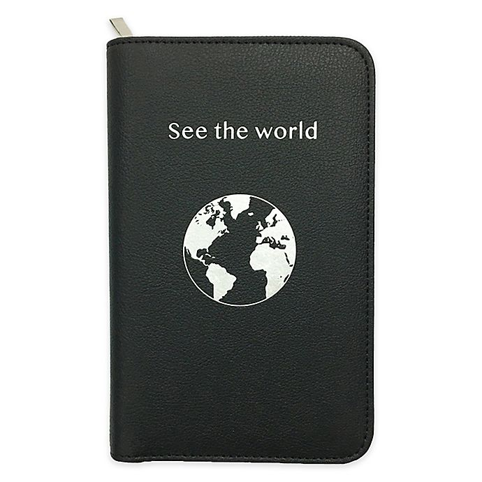 Alternate image 1 for Adventure Port Phone Charging Passport Holder