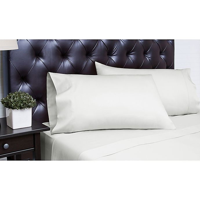Alternate image 1 for Spectrum Home Textiles 340-Thread-Count King Sheet Set in Ivory