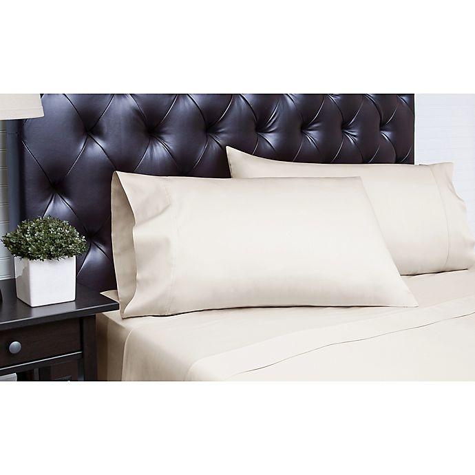 Alternate image 1 for Spectrum Home Textiles 340-Thread-Count California King Sheet Set in Platinum