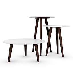 Manhattan Comfort Carmine Modern End Tables (Set of 3)