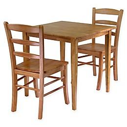 Windsome Trading Groveland 3-Piece Dining Set in Light Oak
