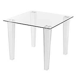 Southern Enterprises Perry Small Space Dining Table in White