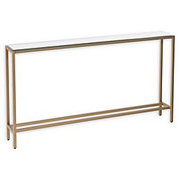 Southern Enterprises Darrin 56-Inch Console Table with Mirror Top in Gold