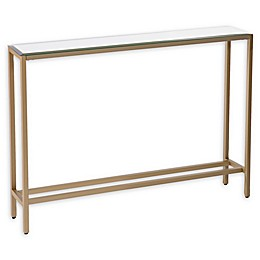 Southern Enterprises Darrin 36-Inch Console Table with Mirror Top in Gold