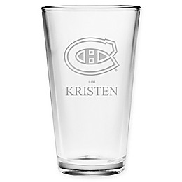 NHL Montreal Canadians Pint Glass