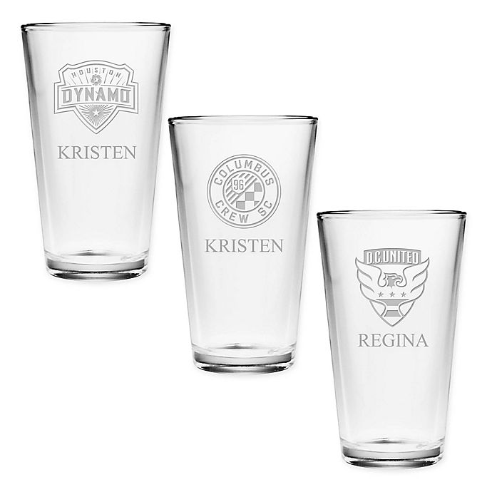 Alternate image 1 for MLS Deep Etch Pint Glass Collection