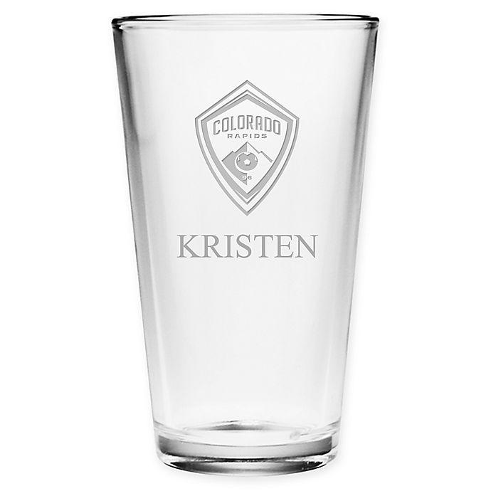 Alternate image 1 for MLS Colorado Rapids Deep Etch Pint Glass