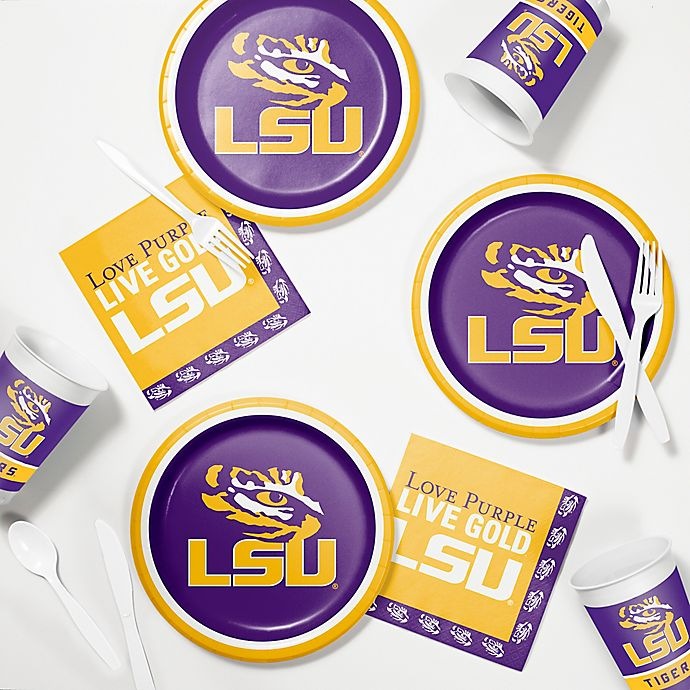 Alternate image 1 for Louisiana State University 60-Piece Tailgating Kit