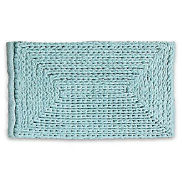 "VCNY Home 24"" x 60"" Baron Chenille Bath Rug in Blue"