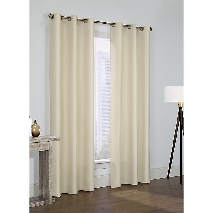 Alternate image 1 for Thermalogic Prescott 84-Inch Grommet Window Curtain Panel Pair in Ivory