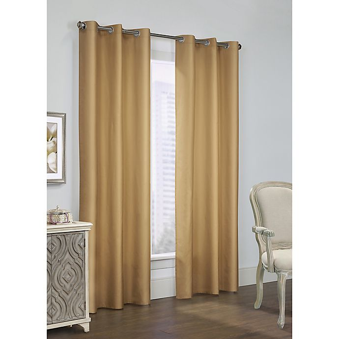 Alternate image 1 for Thermalogic Prescott 84-Inch Grommet Window Curtain Panel Pair in Camel
