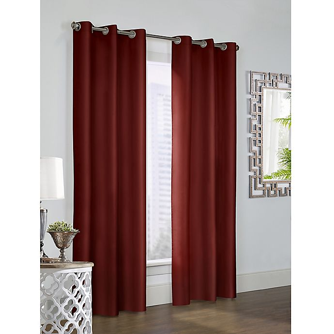 Alternate image 1 for Thermalogic Prescott 54-Inch Grommet Window Curtain Panel Pair in Burgundy