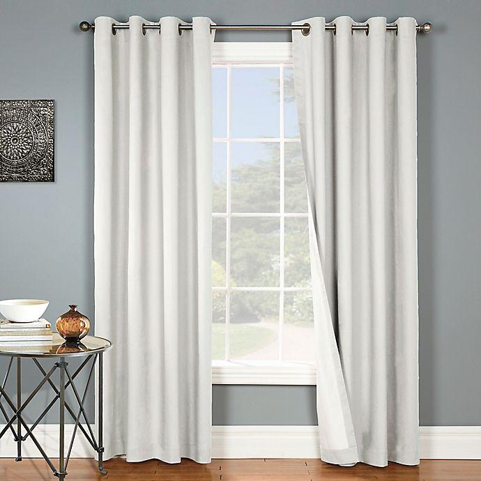 Alternate image 1 for Nantucket 84-Inch Grommet Blackout Window Curtain Panel in White