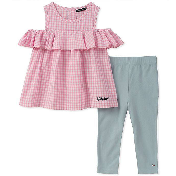 beste Auswahl an Mode gehobene Qualität Tommy Hilfiger® 2-Piece Gingham Top and Pant Set | buybuy BABY