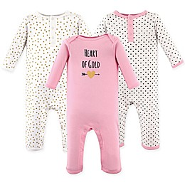 Hudson Baby® Size 3-Pack Heart Union Suits