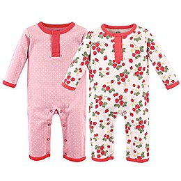 Hudson Baby® 2-Pack Strawberry Union Suits
