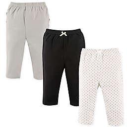 Hudson Baby® 3-Pack Polka Dot Ruffle Pants in Silver
