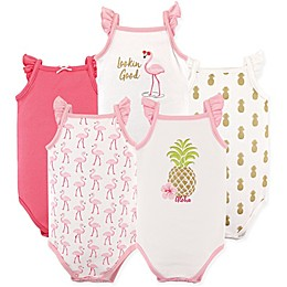 Hudson Baby® 5-Pack Sleeveless Pineapple Bodysuits