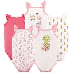 Hudson Baby® 5-Pack Sleeveless Pineapple Bodysuits