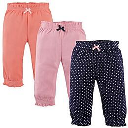 Hudson Baby® 3-Pack Polka Dot Gathered Waist Pant in Navy