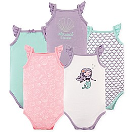 Hudson Baby® 5-Pack Sleeveless Mermaid Bodysuits