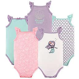Hudson Baby® 5-Pack Sleeveless Mermaid Bodysuits