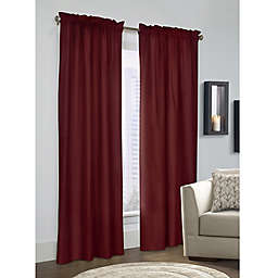 Prescott 2-Pack 84-Inch Rod Pocket Window Curtain Panels in Burgundy