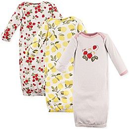 Hudson Baby® 3-Pack Strawberry and Lemon Gowns