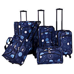 American Flyer Fireworks 5-Piece Luggage Set