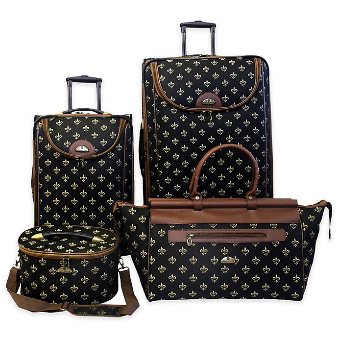 Alternate image 1 for American Flyer Fleur De Lis 4-Piece Luggage Set
