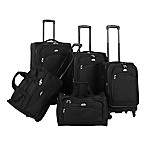 American Flyer South West 5-Piece Luggage Set in Black