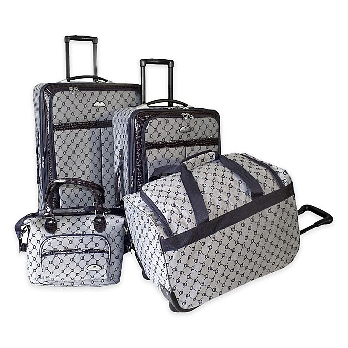 Alternate image 1 for American Flyer 4-Piece Luggage Set
