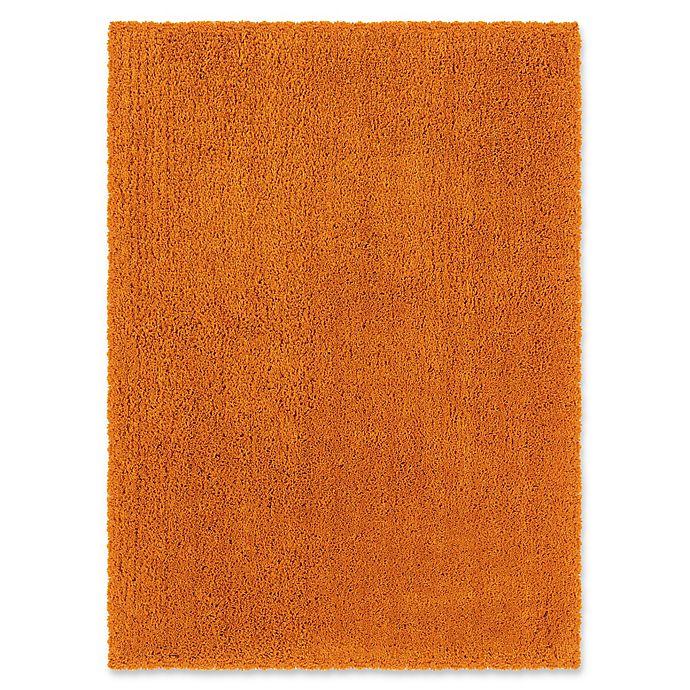 Alternate image 1 for Linon Home Copenhagen 8' x 10' Shag Area Rug in Orange