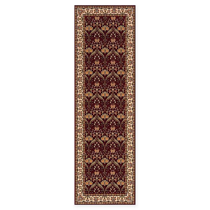 Alternate image 1 for Momeni Persian Garden Ogee 2'6 x 8' Runner in Burgundy