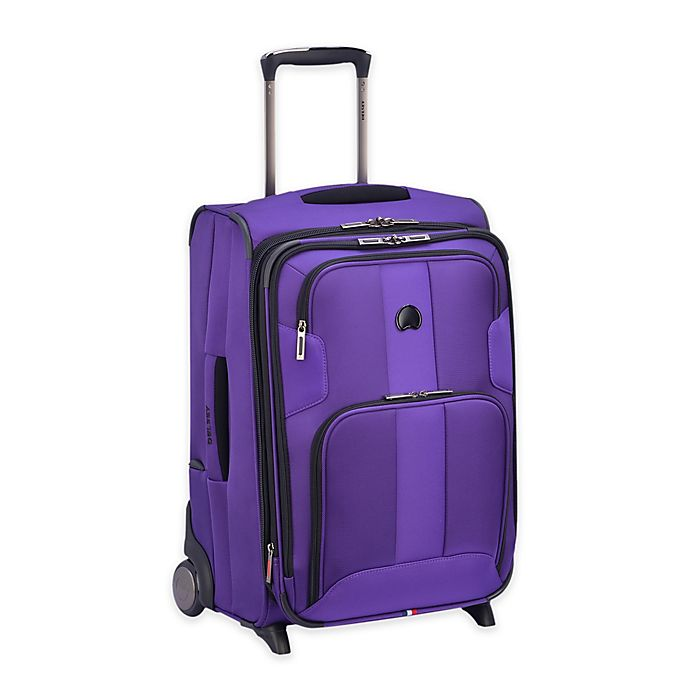 Alternate image 1 for DELSEY PARIS Sky Max 21-Inch Upright Carry On Luggage in Purple