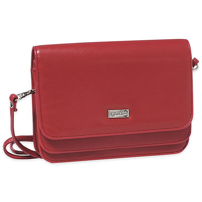Alternate image 1 for Buxton® Double Flap Mini Bag in Red