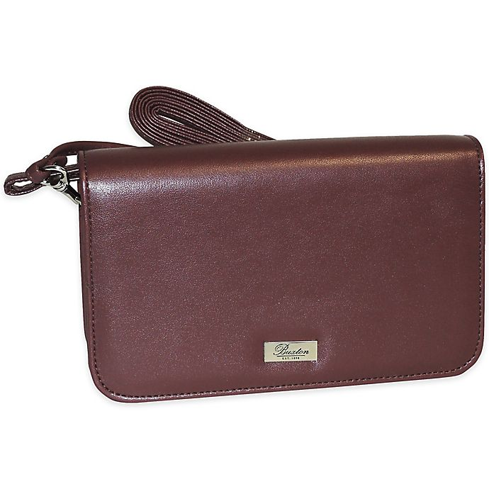 Alternate image 1 for Buxton® Pebbled Grain Ultimate Organizer® Mini Bag in Burgundy