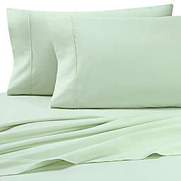 Heartland® HomeGrown™ 325-Thread-Count Cotton Cal King Fitted Sheet in Light Green
