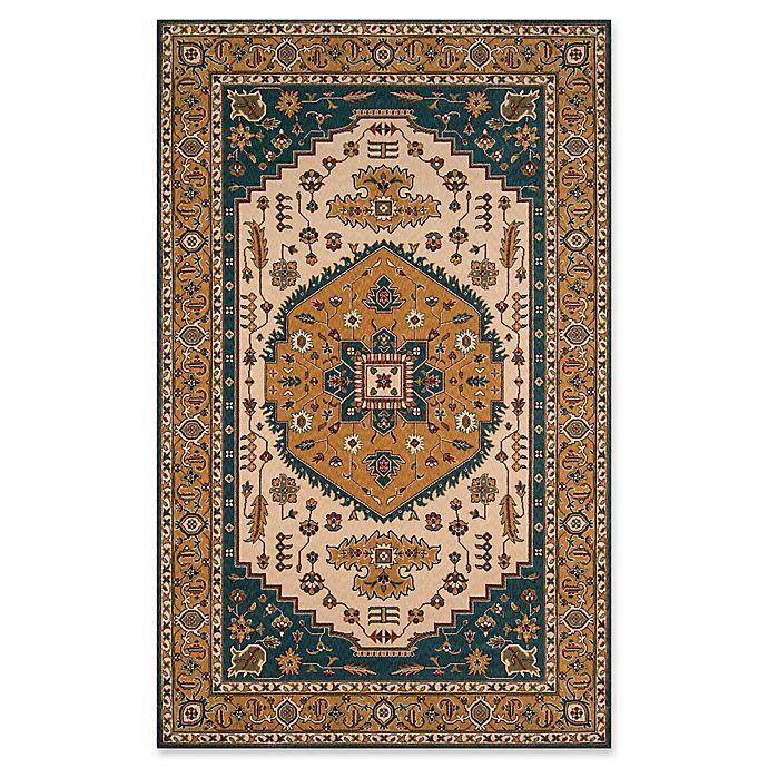Alternate image 1 for Momeni Persian Garden 9'6 x 13' Area Rug in Teal