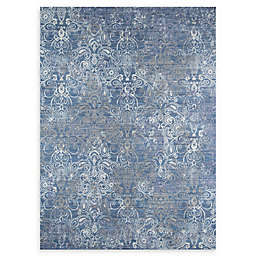 Momeni Petra Loomed Accent Rug in Blue/Grey