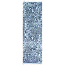 Momeni Petra Loomed 2'3 x 8' Accent Rug in Blue/Grey