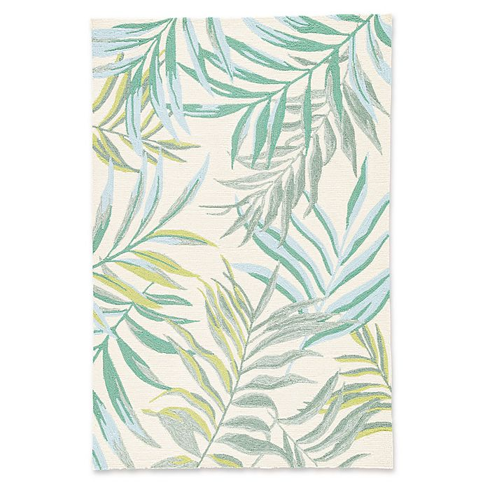 Alternate image 1 for Jaipur Osmia 2' x 3' Indoor/Outdoor Hand Knotted Accent Rug in Green/Cream