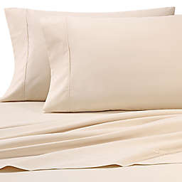 Heartland® HomeGrown™ 325-Thread-Count Cotton Percale Queen Flat Sheet in Ivory