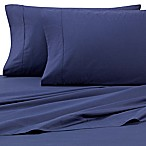 Heartland® HomeGrown™ 325-Thread-Count Cotton Percale King Flat Sheet in Navy
